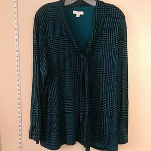 3 for $30 Blouse green and black Charter Club